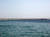 在口岸的金属桥梁 库存照片
