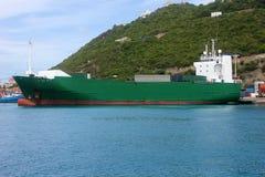 在口岸的货船 库存图片