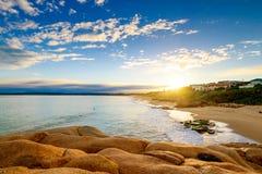在口岸艾略特,南澳大利亚的美好的日落视图 库存照片
