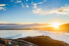 在口岸艾略特,南澳大利亚的美好的日落视图 库存图片