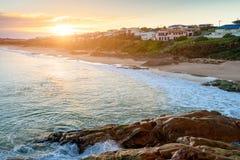 在口岸艾略特,南澳大利亚的美好的日落视图 免版税库存图片