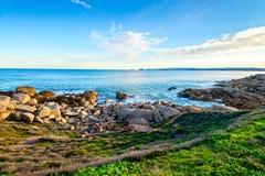 在口岸艾略特,南澳大利亚的美好的海视图 免版税库存图片