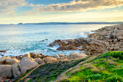 在口岸艾略特,南澳大利亚的美好的海视图 库存图片