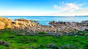 在口岸艾略特,南澳大利亚的美好的海视图 图库摄影