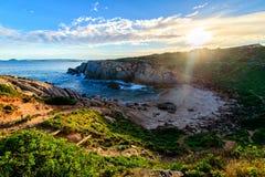在口岸艾略特,南澳大利亚的美好的海视图 免版税库存照片