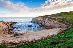 在口岸艾略特,南澳大利亚的美好的海视图 库存照片