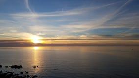 在口岸菲利普海湾的日落 免版税图库摄影