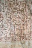 在古代北欧文字上写字 库存图片