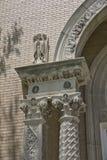 在古典详细资料之后的结构把视图枕在 免版税库存照片