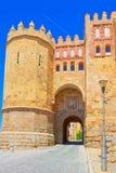 在古城塞戈维亚,圣安德烈斯环境美化门,被找出 免版税图库摄影