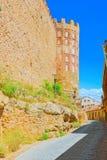 在古城塞戈维亚,圣安德烈斯环境美化门,被找出 库存图片