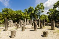 在古城布特林特废墟的看法在阿尔巴尼亚 库存图片