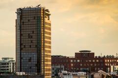 在古尔冈被更新的摩天大楼 库存照片
