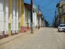在古巴的街道 免版税库存图片
