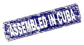 在古巴装配的难看的东西构筑了被环绕的长方形邮票 皇族释放例证