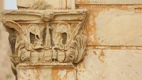 在古希腊和罗马式建筑, Hadrian的曲拱,雅典的科林斯柱式 股票录像