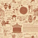 在古希腊的题材的无缝的样式 皇族释放例证