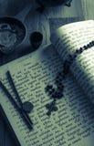 在古教会斯拉夫语语言的圣诗集 定调子 库存图片