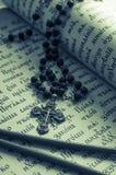 在古教会斯拉夫语语言的圣诗集 定调子 免版税库存照片