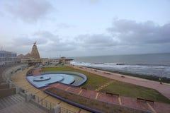 在古杰雷特的西部海岸的Somnath寺庙 免版税库存图片
