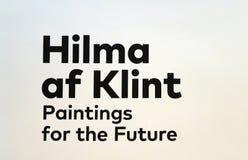 在古根汉的Hilma Af Klint展览 库存照片