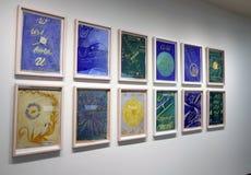 在古根汉的Hilma Af Klint展览 免版税图库摄影