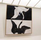 在古根汉的Hilma Af Klint展览 图库摄影