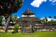 在古老佛教寺庙II的老建筑学 免版税图库摄影