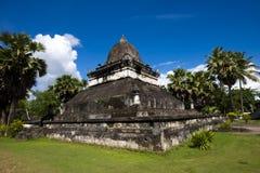 在古老佛教寺庙III的老建筑学 免版税库存照片