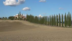 在古老别墅Boscarello,晴天的看法 意大利托斯卡纳 股票视频