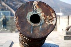 在古老垒的火炮 免版税库存照片