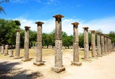 在古老奥林匹亚的Theokoleon废墟 免版税库存图片