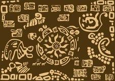 在古老文明的样式的太阳 免版税图库摄影