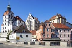 在古老的Residenzschloss或Neuburg城堡 免版税库存照片