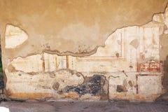在古老罗马墙壁上的壁画绘画 免版税库存照片