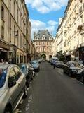 在古老马瑞斯区在巴黎 库存图片