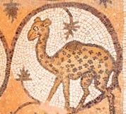 在古老马赛克的长颈鹿在一个基督教会里我 免版税库存照片
