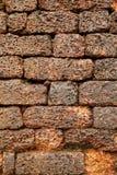 在古老Aguada堡垒的墙壁上的砖 免版税库存图片