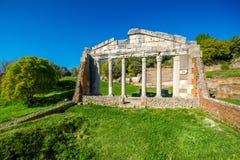 在古老Apollonia的寺庙废墟 库存图片