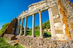 在古老Apollonia的寺庙废墟 库存照片