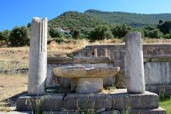在古老Messene Messinia的废墟 免版税库存照片