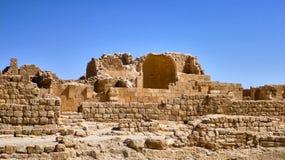 在古色古香的废墟的看法 免版税库存图片