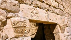 在古色古香的废墟的看法 库存图片