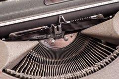在古色古香的打字机的细节 库存照片