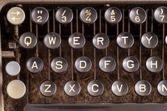 在古色古香的打字机的细节 免版税库存照片