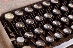 在古色古香的打字机的细节 免版税库存图片