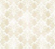 在古色古香的样式的传染媒介无缝的样式背景纺织品、纸或者表面纹理的 库存例证