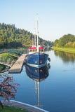 在古苏格兰运河的缪斯女神 免版税库存照片