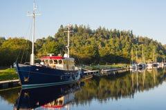 在古苏格兰运河的缪斯女神 库存照片