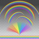 在另外形状的彩虹 免版税库存照片